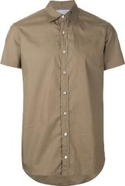 Kolor , Embroidered Collar Shirt Men Cotton 2, Brown