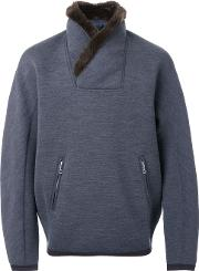 Kolor , Fur Collar Sweatshirt Men Nylonwool 4, Grey