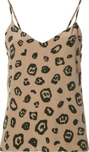 Lagence , L'agence Leopard Printed Cami Top Women Polyestersilk S, Brown