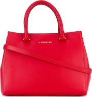 Lancaster , Logo Stamp Tote Women Leather One Size, Red