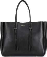 Lanvin , Fringed Tote Women Calf Leather One Size, Black