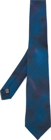 Lanvin , Gradient Colour Tie Men Silk One Size, Blue