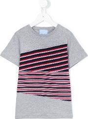 Lanvin Petite , Striped Shirt Kids Cotton 2 Yrs, Grey