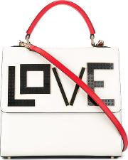Les Petits Joueurs , Love Patch Tote Women Leather One Size, White