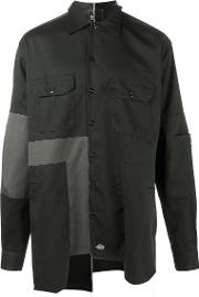 Liam Hodges , Patchwork Shirt Men Cotton M, Black