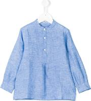 Little Bear , Henley Shirt Kids Linenflax 4 Yrs, Blue