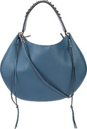 Loewe , Fringed Detail Tote Women Leather One Size, Blue