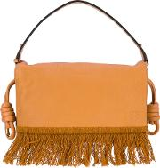 Loewe , Fringed Shoulder Bag Women Leather One Size, Brown