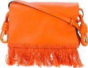 Loewe , Fringed Shoulder Bag Women Leather One Size, Women's, Yelloworange