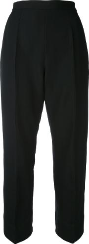 Lutz Huelle , Cropped Trousers Women Wool 38, Black