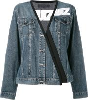 Lutz Huelle , Stylised Denim Jacket Women Cottonacetateviscose S, Blue