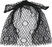 Maison Michel , Mesh Bow Hair Band Women Polyester One Size, Women's, Black