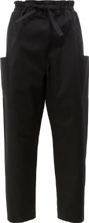 Maison Rabih Kayrouz , Side Pockets Belted Trousers Women Cotton 40, Black