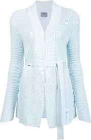 Maiyet , Belted Cardigan Women Cotton S, Blue