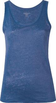 Majestic Filatures , Round Neck Tank Women Linenflax 4, Blue
