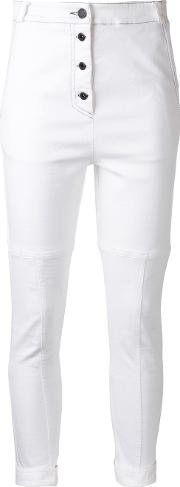 Manning Cartell , Pushing Buttons Trousers Women Cottonpolyesterspandexelastane 8, White