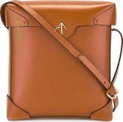 Manu Atelier , Pristine Crossbody Bag Women Calf Leather One Size, Women's, Brown