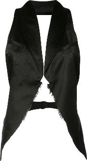 Marc Le Bihan , Curved Hem Gilet Women Silk 36, Women's, Black
