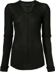 Marc Le Bihan , Longsleeved T Shirt Women Cotton 38, Black