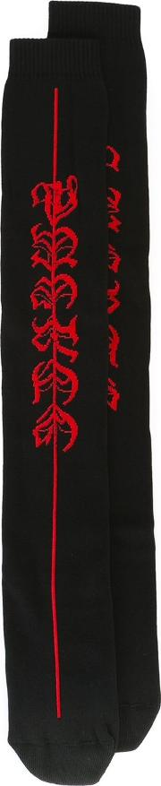 Marcelo Burlon County Of Milan , Classic Socks Men Cottonpolyamidespandexelastane One Size, Black
