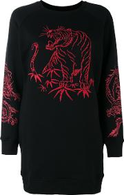 Marcelo Burlon County Of Milan , Embroidered Sweatshirt Women Cottonpolyester S, Black