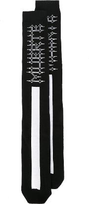 Marcelo Burlon County Of Milan , Orlando Long Socks Men Cottonpolyamidespandexelastane One Size, Black