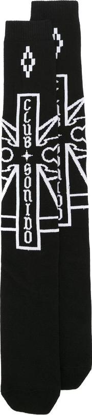 Marcelo Burlon County Of Milan , Ramon Long Socks Men Cottonpolyamidespandexelastane One Size, Black