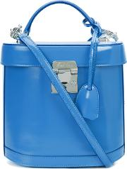 Mark Cross , Removable Strap Structured Tote Women Leather One Size, Blue