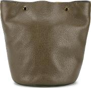Marni , Bucket Bag Women Cottoncalf Leathersuede One Size, Green