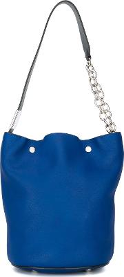 Marni , Bucket Tote Women Calf Leather One Size, Women's, Blue