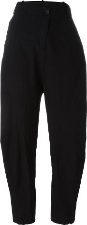 Masnada , Low' Waisted Trousers Women Cotton 42, Women's, Black