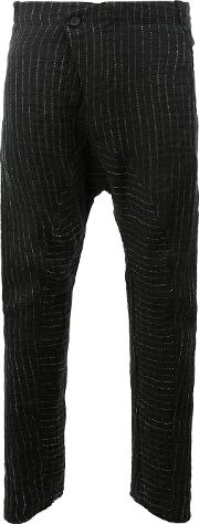 Masnada , Slouch Knitted Trousers Men Cottonlinenflax 50, Black