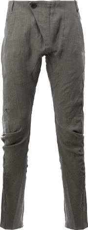 Masnada , Tapered Casual Trousers Men Linenflax 50, Grey