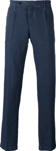 Massimo Alba , Straight Leg Trousers Men Linenflaxcotton 48, Blue