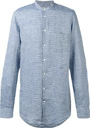 Massimo Alba , Striped Shirt Men Linenflax M, Blue