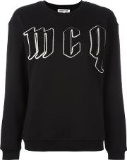 Mcq Alexander Mcqueen , Embroidered Logo Sweatshirt Women Cotton M, Black