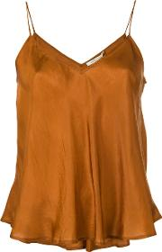 Mes Demoiselles , Camisole Top Women Silk 38, Brown