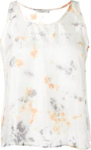 Mes Demoiselles , Printed Ada Top Women Silk 38, White