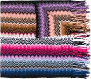 Missoni , Zig Zag Crochet Knit Scarf Women Cotton One Size