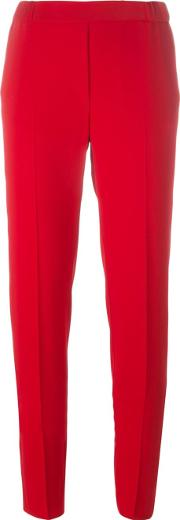 Mm6 Maison Margiela , Cigarette Fit Trousers Women Polyesterviscose 40, Red