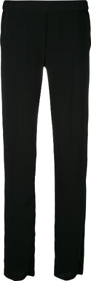 Mm6 Maison Margiela , Classic Tapered Trousers Women Polyester 38, Black