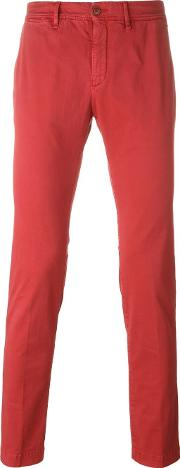 Moncler , Classic Chinos Men Cottonspandexelastane 52, Red