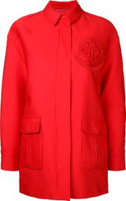 Moncler Gamme Rouge , Single Breasted Coat Women Cotton 0, Red
