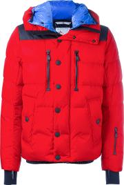 Moncler Grenoble , Hooded Padded Jacket Men Polyamidepolyesterfeather Down 4, Red