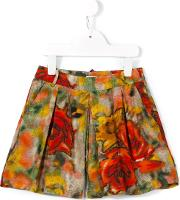 Morley , 'eve' Rose Print Shorts Kids Viscose 6 Yrs, Red