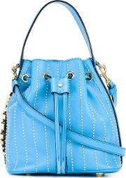 Moschino , Bucket Tote Women Leathermetal Other One Size, Women's, Blue