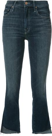 Mother , Cropped Flared Jeans Women Cottonpolyesterspandexelastane 30, Blue