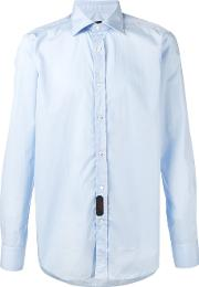 Mp Massimo Piombo , Plain Shirt Men Cotton 39, Blue