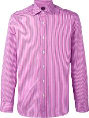 Mp Massimo Piombo , Striped Shirt Men Cotton 42, Pinkpurple