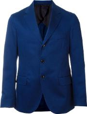 Mp Massimo Piombo , Three Button Blazer Men Cottonpolyester 48, Blue